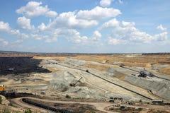 öppen grop för kolgruva Royaltyfri Bild