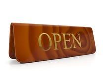 Öppen guld- bokstäver Fotografering för Bildbyråer