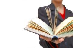 öppen håll för bokhand royaltyfri fotografi