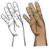 öppen hand vektor illustrationer