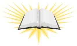 öppen helig illustration för bok Arkivfoton