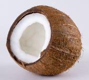 öppen kokosnöt Arkivfoto