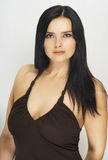 öppen kvinna för härlig klänning Fotografering för Bildbyråer