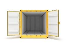 öppen lastbehållare royaltyfri bild