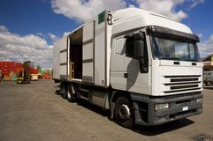 öppen lastbil för marknad Royaltyfria Foton