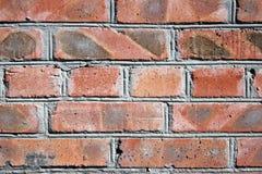 Öppen luft, stads- arkitektur, modern tegelstenvägg som är röd arkivbilder