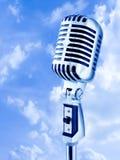 öppen luftmikrofon Royaltyfria Bilder