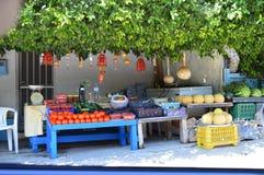 Öppen marknad crete Grekland Arkivbild