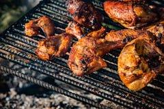 öppen matlagningbrand Fotografering för Bildbyråer