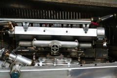 Öppen motorisk hätta av den första tävlings- bilen för Bugatti typ 51 från 1931 Arkivfoto