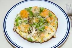 öppen omelett arkivfoto