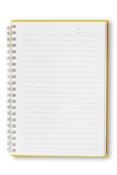 öppen orange för anteckningsbok Fotografering för Bildbyråer