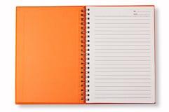 öppen orange för bokanmärkning Royaltyfria Bilder