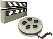 öppen rulle för clapboardfilm Royaltyfri Fotografi