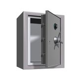 öppen safe för gruppkassa Arkivfoto