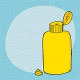 Öppen senapsgult flaska Royaltyfri Foto