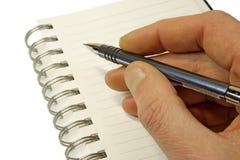öppen sida för anteckningsbok Arkivbild