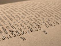 öppen sida för bok royaltyfri bild