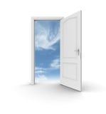 öppen sky för dörr till Fotografering för Bildbyråer