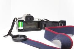 öppen slr för 35mm backkamera Arkivfoto