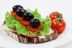 Öppen smörgås Royaltyfri Bild