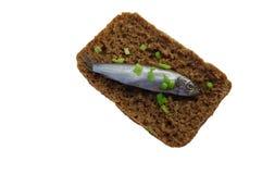 öppen smörgås för danish Arkivfoto