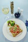 öppen smörgås för fegt galler Royaltyfri Fotografi