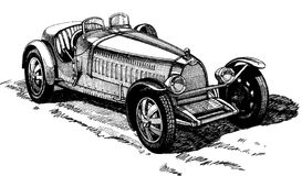 öppen sport för bil Royaltyfria Foton