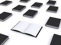 öppen svart bok Royaltyfri Bild