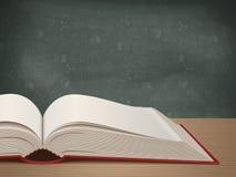 öppen tabell för bok stock illustrationer