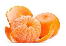 öppen tangerine för frukt arkivfoton