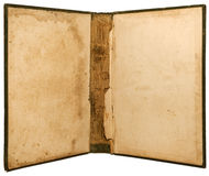 öppen tappning för binding bok Royaltyfri Fotografi