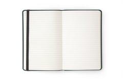 öppen telefon för blank bokdagbokanteckningsbok Arkivbild