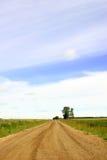 öppen väg för land Arkivbild