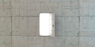 Öppen vit dörr Arkivbilder
