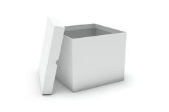 öppen white för blank ask stock illustrationer