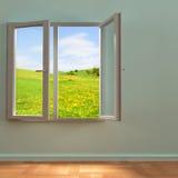 öppet fönster Royaltyfri Bild