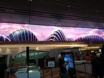 Öppet hus för Changi flygplatsterminal 4 Arkivfoton