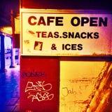 Öppet kafé Royaltyfria Foton
