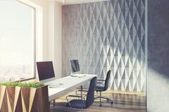 Öppet kontor för grå diamantväggmodell som tonas stock illustrationer