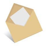 öppet kuvert vektor illustrationer