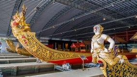 Öppet museum för thailändsk kunglig pråm Arkivfoton