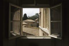 öppet vatican för museum fönster Arkivbild