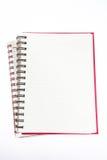 Öppna anteckningsboken för den tomma sidan Arkivbild