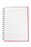 Öppna anteckningsboken för den tomma sidan Royaltyfri Fotografi