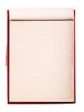 Öppna anteckningsboken för den tomma sidan. Gammal pappers- Notepad Royaltyfri Bild