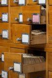 Öppna askar i det gamla arkivet Royaltyfria Foton