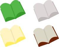 Öppna böcker för abstrakt begrepp Arkivfoto
