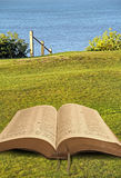 Öppna bibeln av fred fotografering för bildbyråer