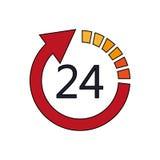 öppna 24 bild för 7 symbol Arkivfoton